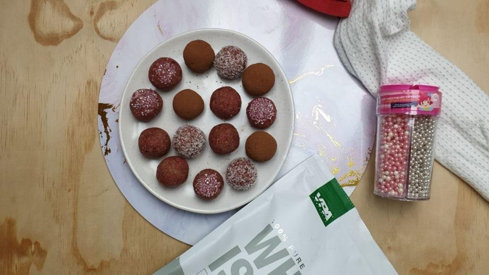 Image ofRaspberry Protein Balls
