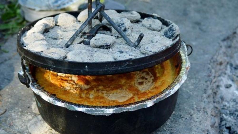 Image of Dutch Oven Peach Cobbler