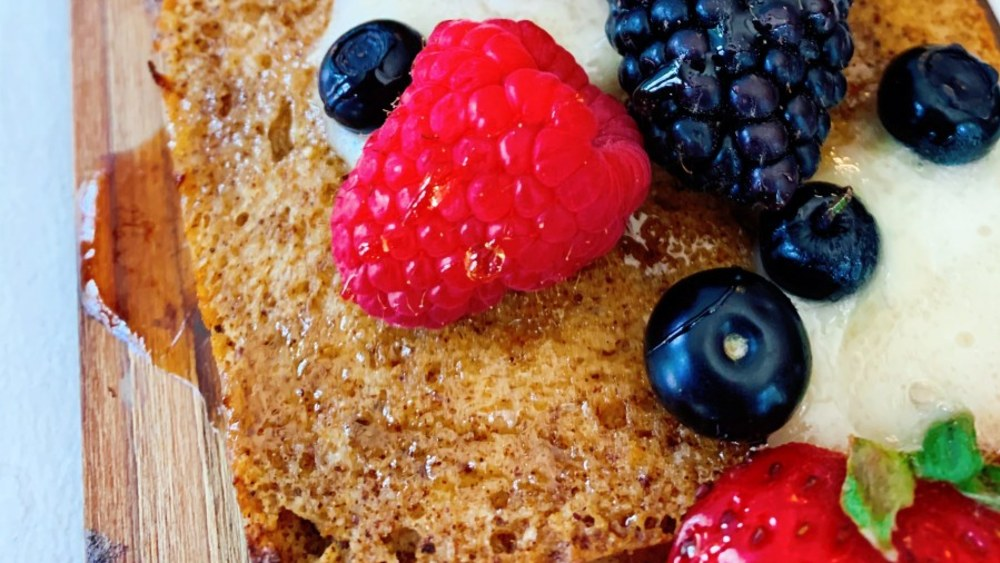 Image of Berry and Brie Cedar Plank French Toast