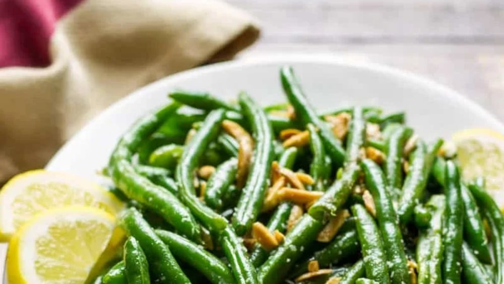 Image of French Beans With Parmesan And Lemon