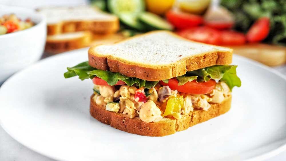 Image ofMediterranean Chickpea Salad Sandwich