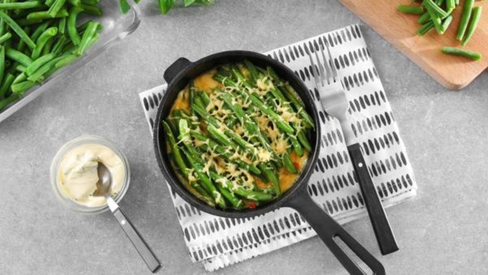 Image de la recette de cocotte aux haricots verts au fromage