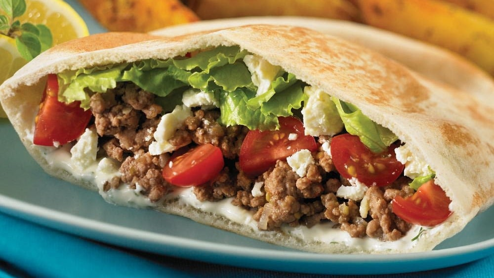 Image ofStuffed Ground Beef Pita