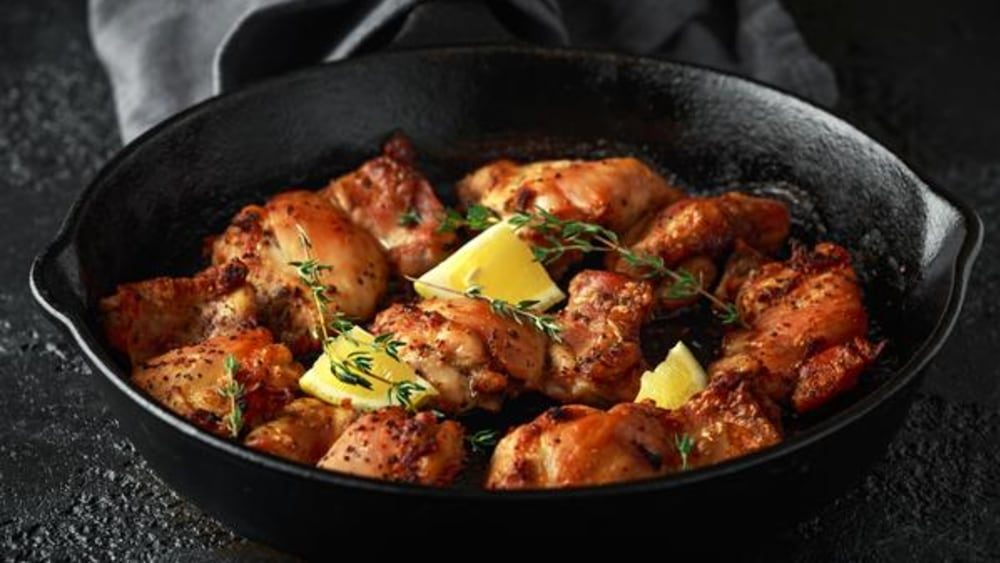 Image of Skillet Chicken: Pan Seared in a Garlic Herb Butter Sauce