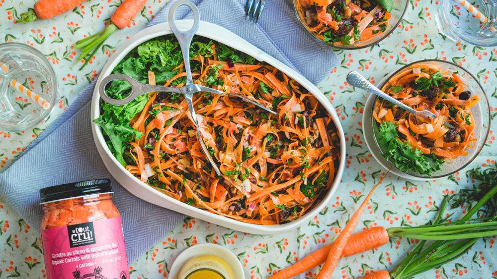 Image ofSalade de carottes lactofermentées et sa vinaigrette émulsionnée