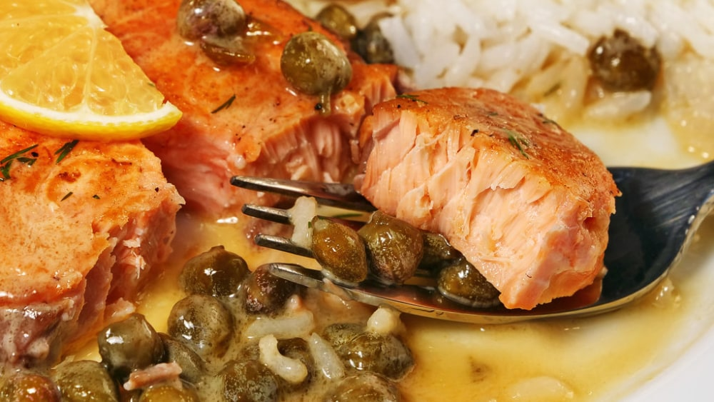 Image of Delicious Salmon Piccata at Home