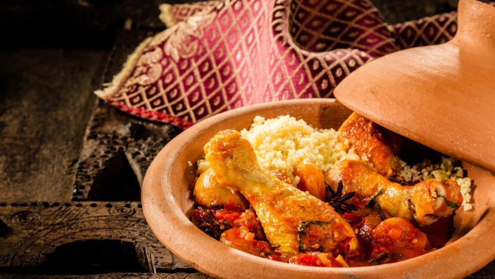 Image of Slow-Cooked Moroccan Chicken Tagine