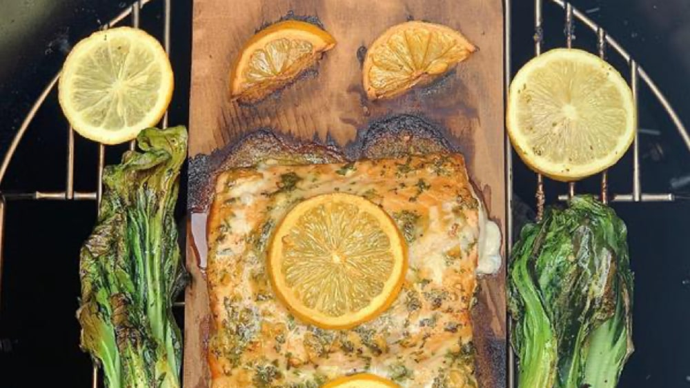 Image ofLemon Mustard Plank Salmon