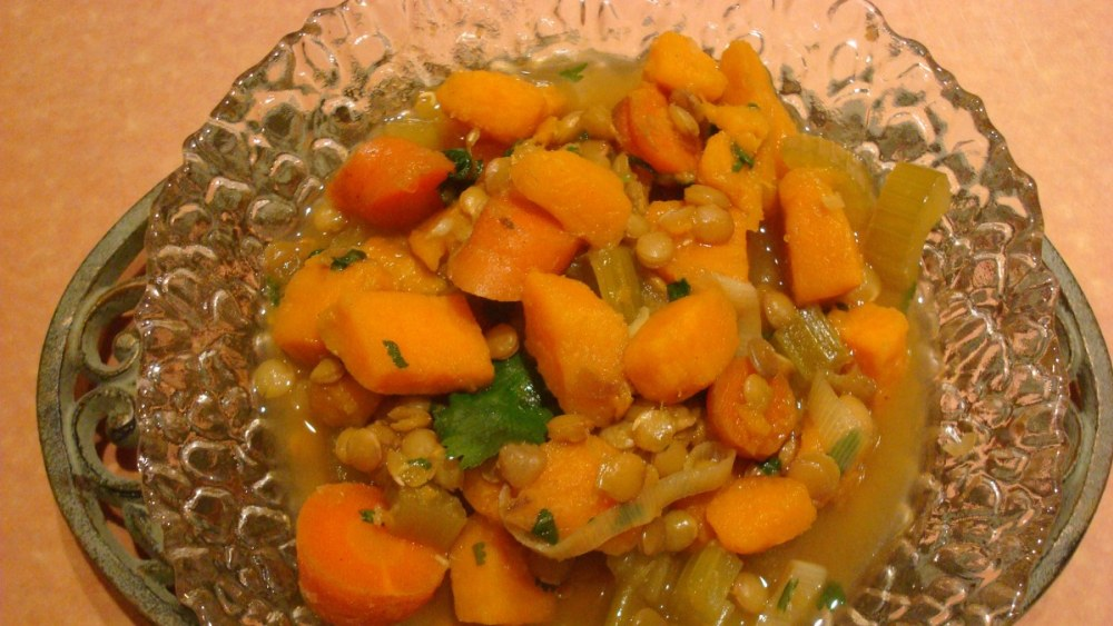 Image ofSweet Potato, Curry & Lentils Soup – Crock Pot/Slow Cooker Recipe