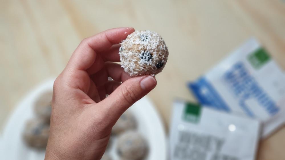 Image ofBlueberry Muffin Bites (no-bake)