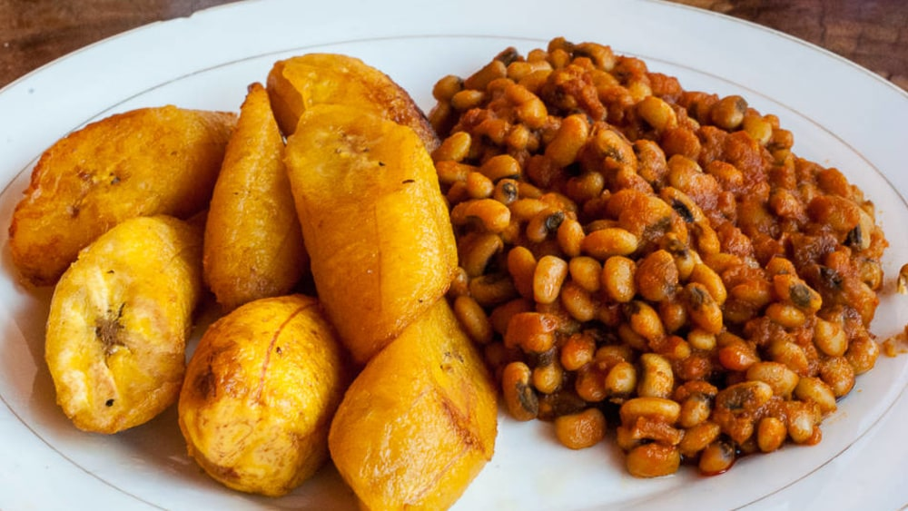 Image of Fried Plantain with Beans (Red Red)