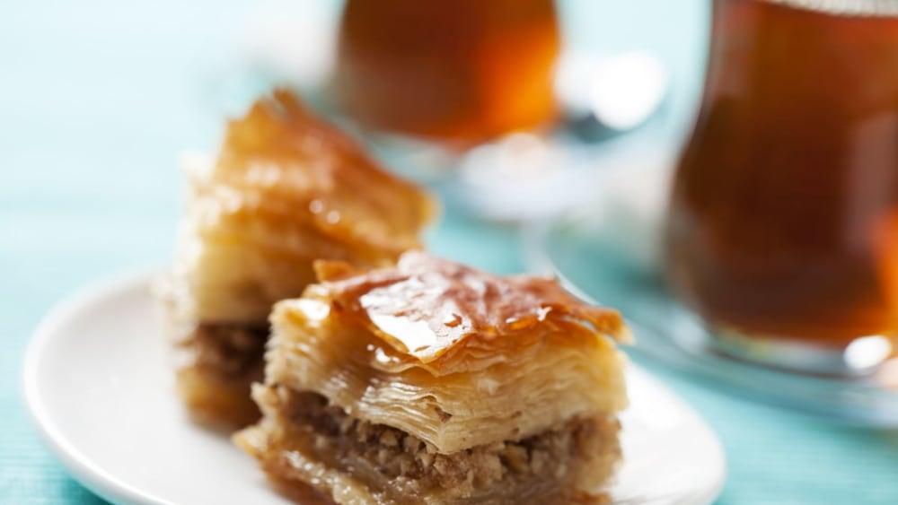 Image of Sticky-Sweet Baklava with Orange Blossom Honey