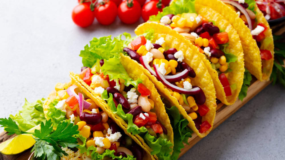 Image of Vegan Tacos: Spicy Beans and Tofu Walnut Filling
