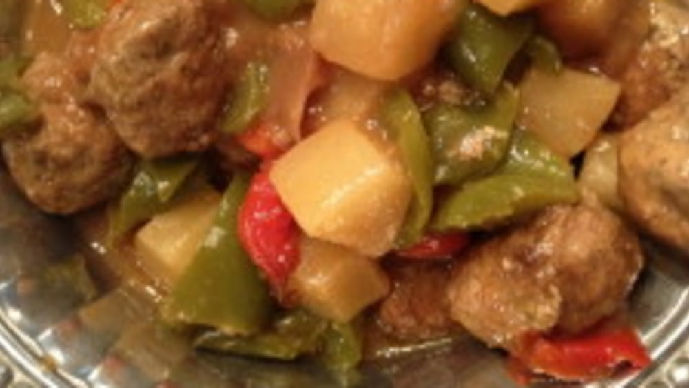 Image ofCrock Pot/Slow Cooker Hawaiian Meatballs Recipe!