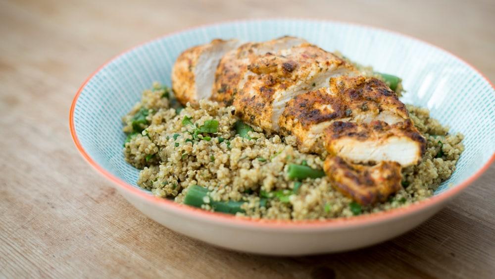 Image ofPeri peri chicken with herby quinoa