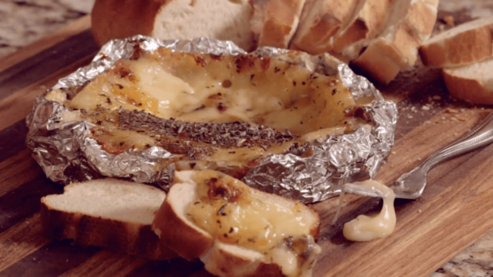 Image ofSmoked Brie with Apricot Preserves