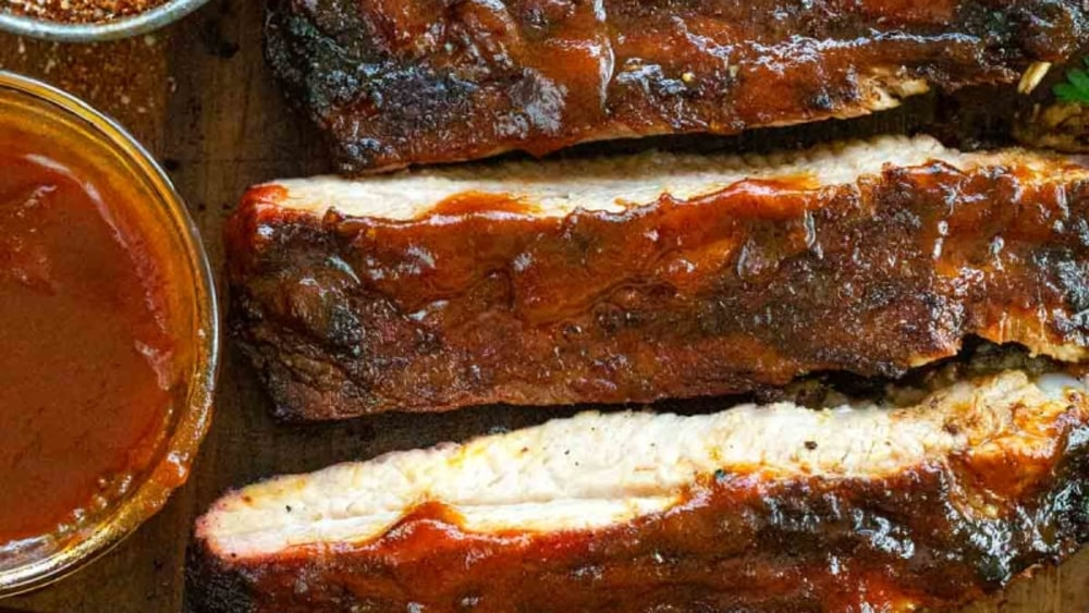 Image ofBOURBON INFUSED BLUEBERRY BBQ RIBS