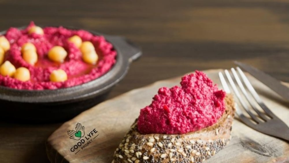 Image of Moringa Beetroot - Hummus with a Twist