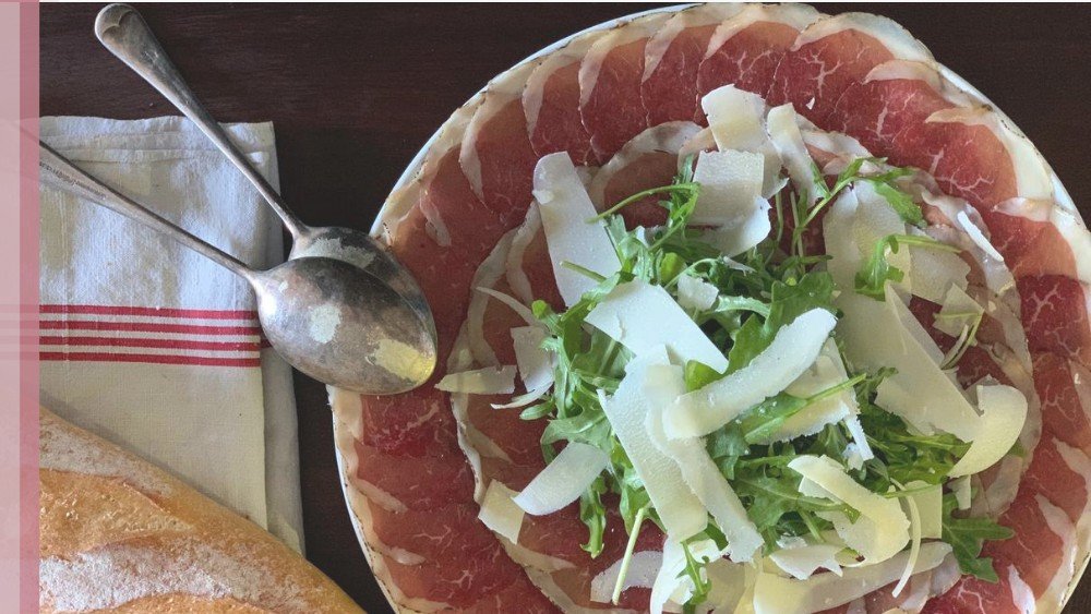 Image of Wagyu Bresoala with Rocket, Shaved Parmesan and Balsamic Vinaigrette