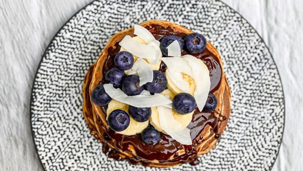 Image ofChoc Coconut Protein Pancakes