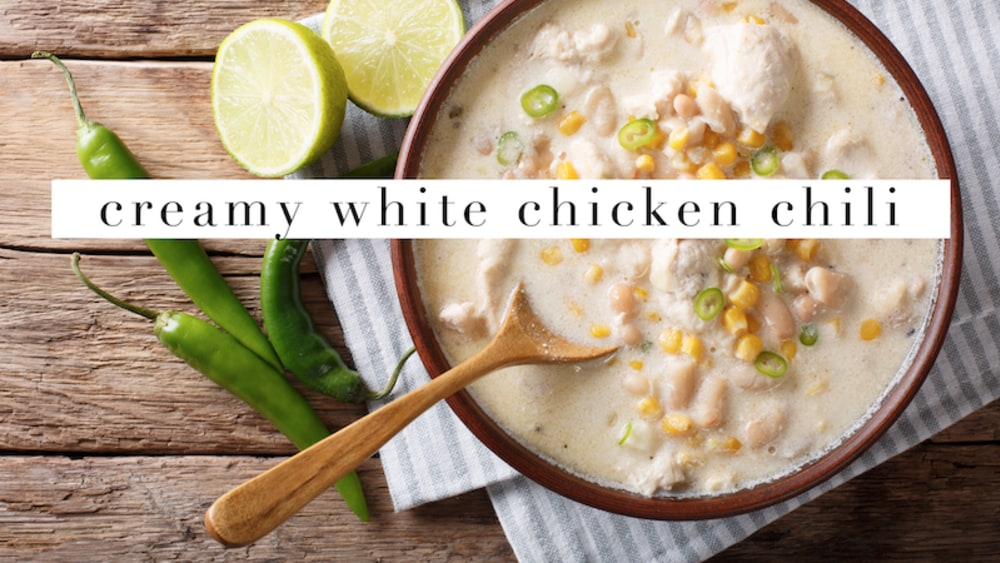Image ofSlow Cooker Creamy White Chicken Chili
