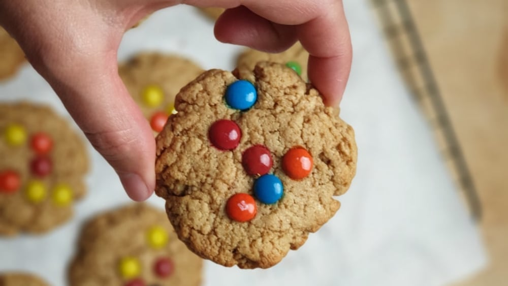 Image of M&M Tahini Cookies