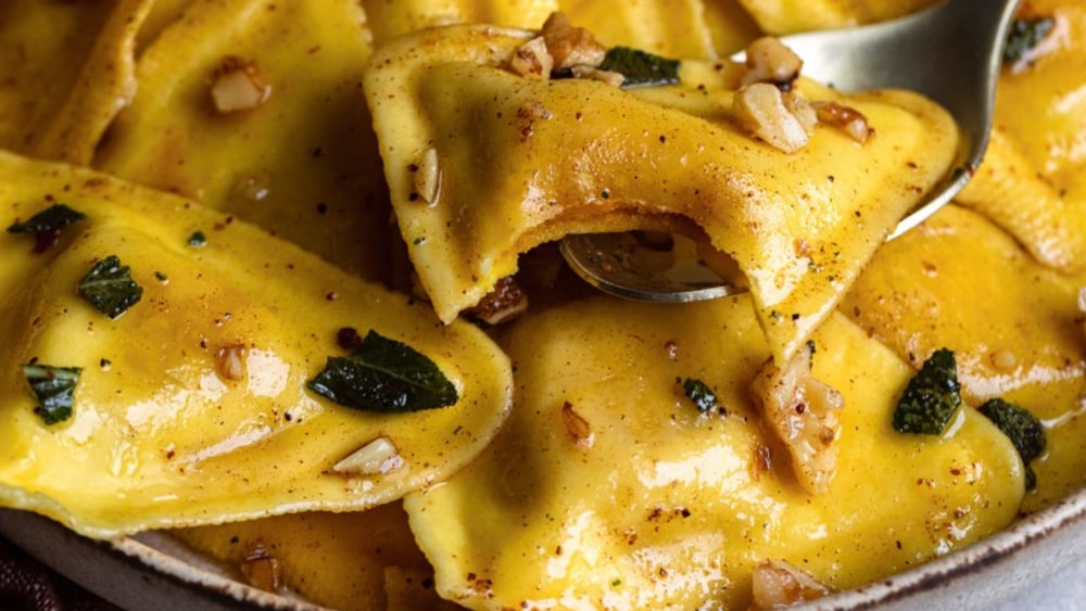 Image ofButternut Squash Ravioli With Sage Butter Sauce