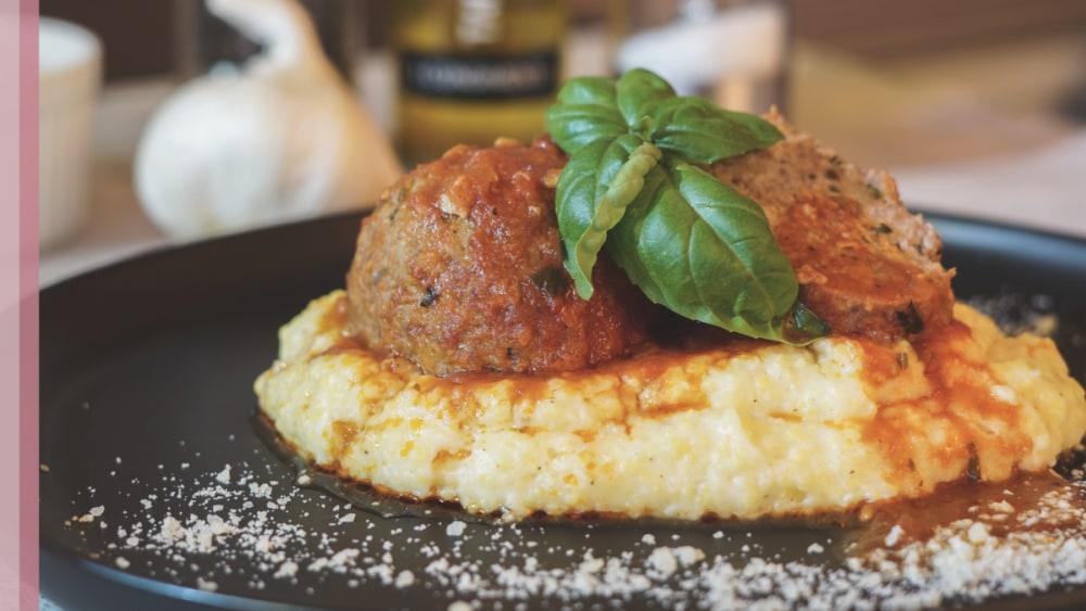 Image of Polpette di Manzo - pork meatballs in tomato sugo!