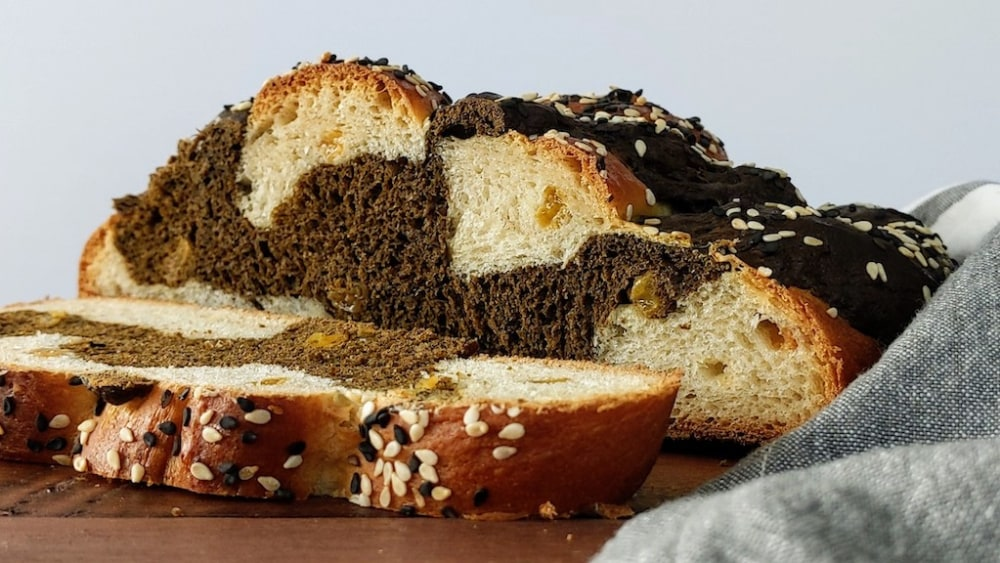 Image ofHojicha Challah Braided Bread
