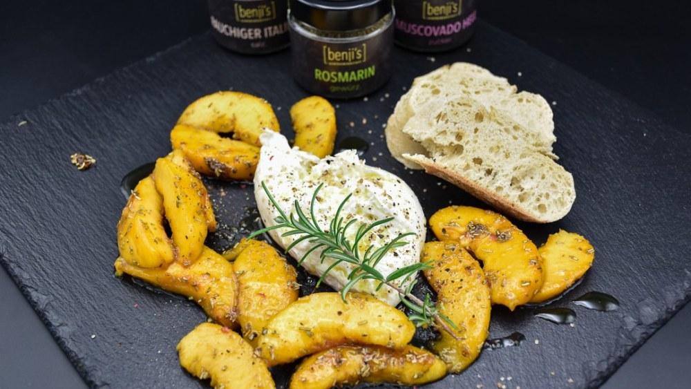 Image ofKaramellisierte Pfirsiche mit Rosmarin & Burrata