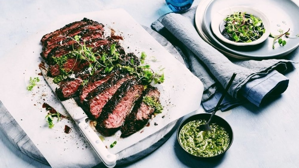 Image of P-Town Keto Coffee Steak With Salsa Verde