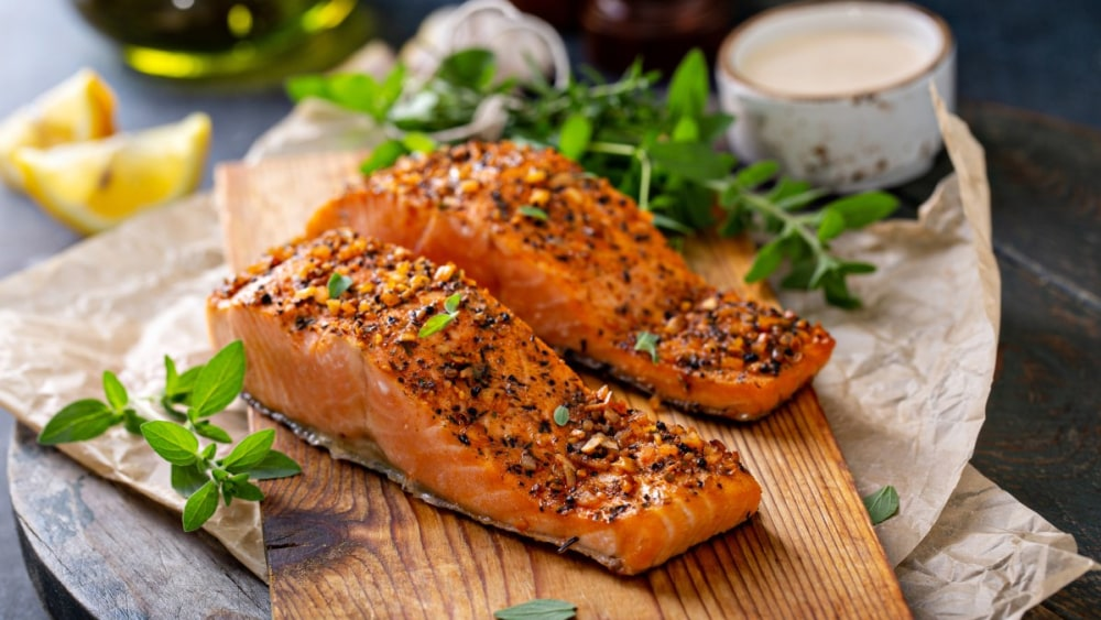 Image of Easy Dinner Recipes: Sesame Maple Glazed Salmon with The Silk Road spice mix