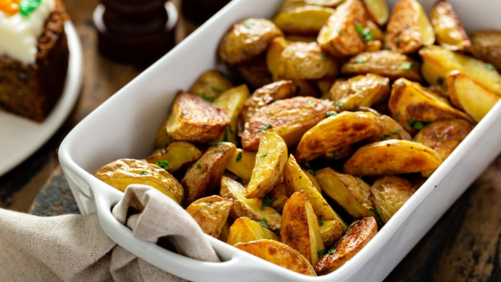 Image of Easy Dinner Recipes: Oven Roasted Potatoes with The Herbalist