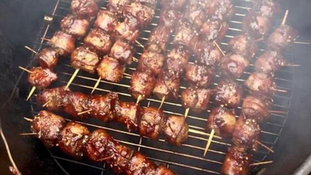 Image ofJalapeño Peppercorn Bacon-Wrapped Italian Meatballs
