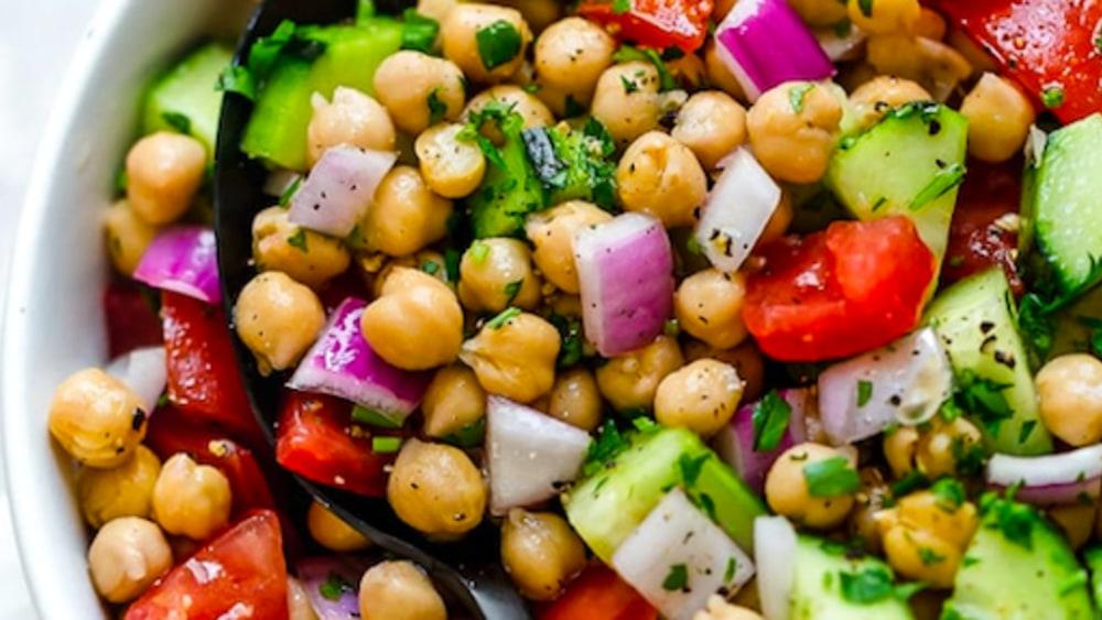 Image ofRed Capsicum + Chickpea Salad