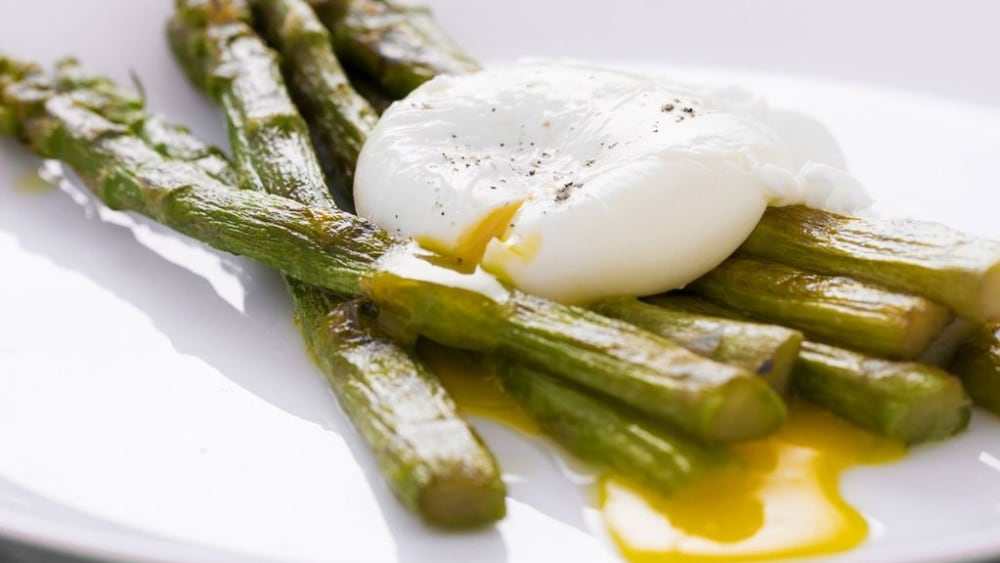Image of Magical Poached and Broiled Asparagus