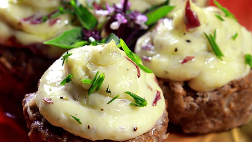 Image of Meatloaf Cupcakes with Loaded Smashed Potatoes