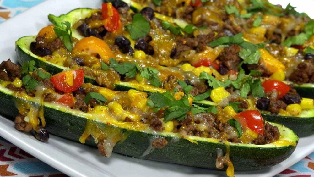 Image of Zucchini Burrito Boats