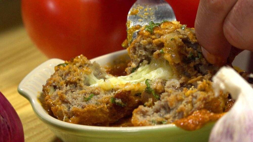 Image of Italian Stuffed MeatBalls