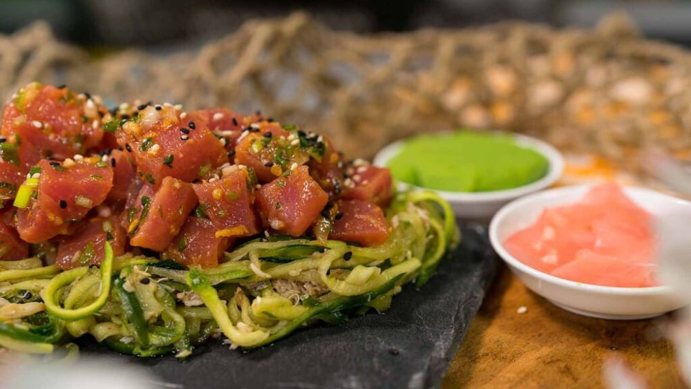 Image of Tuna Poke with Kani Su Salad