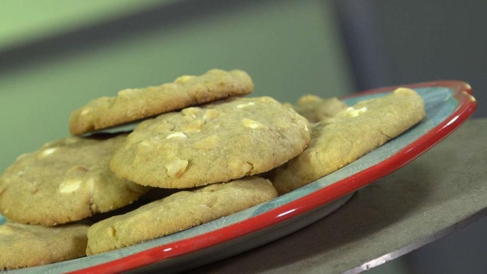 Image of White Chocolate Lime Macadamia Nut Cookies