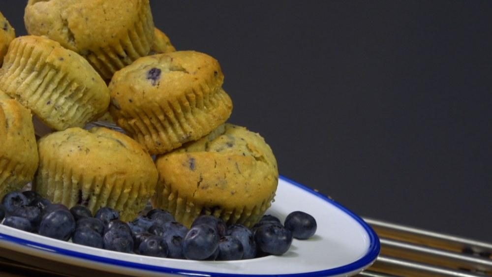 Image of Baked Blueberry Muffins