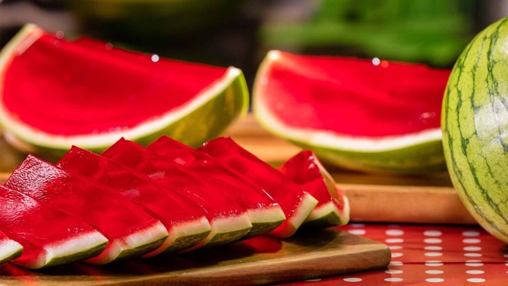 Image of Jello Filled Watermelon