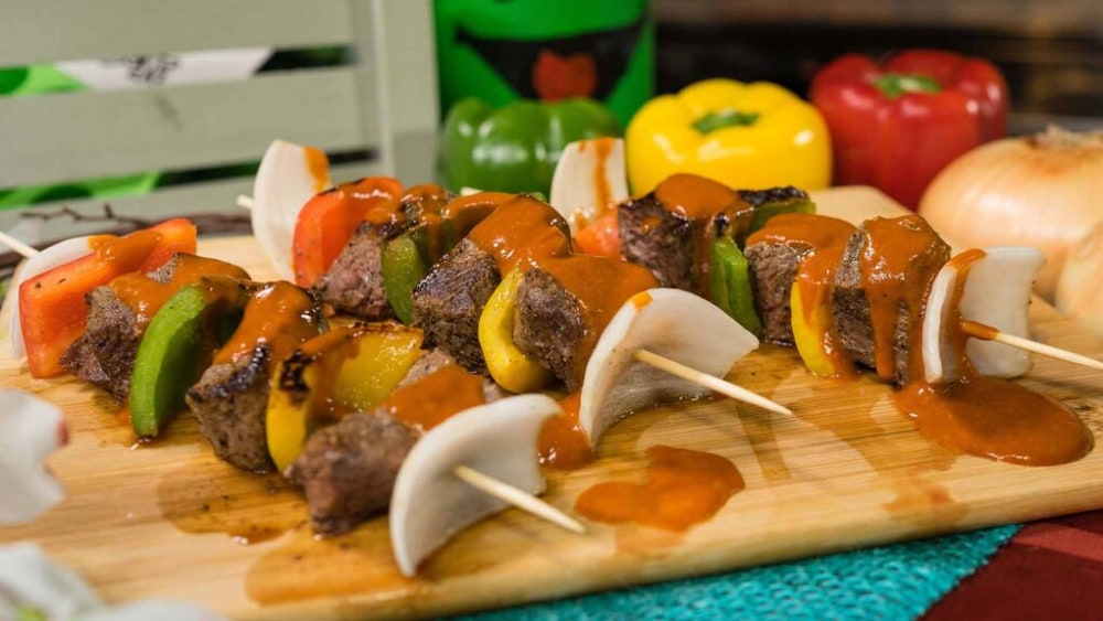 Image of Steak Kebabs with Homemade Steak Sauce