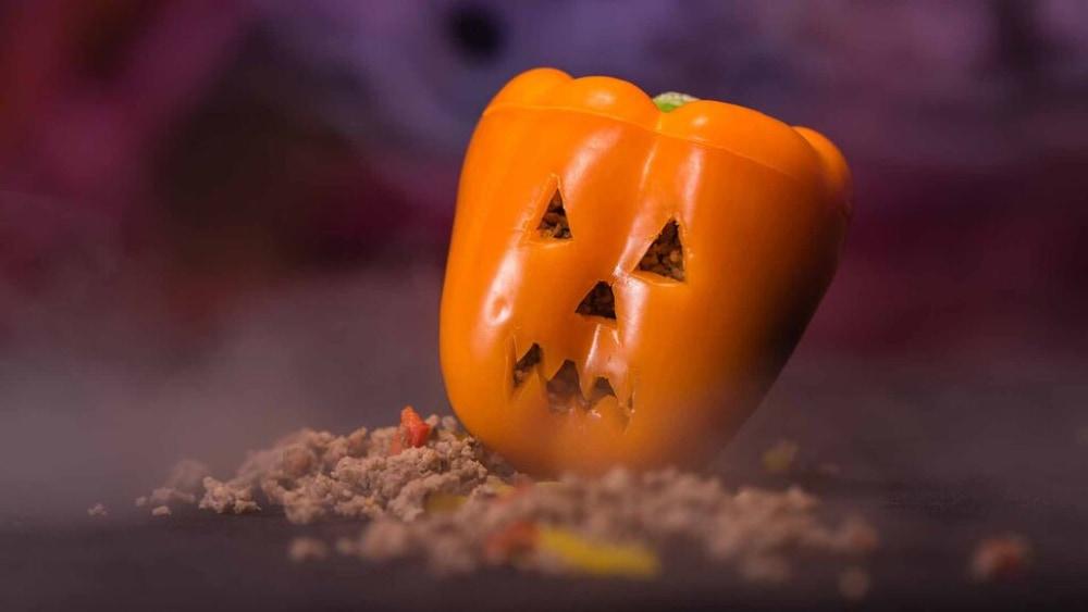 Image of Stuffed Pepper Jack-O-Lantern