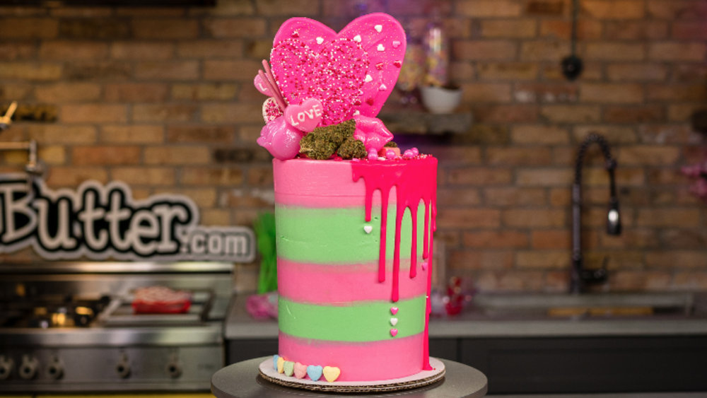 Image of Strawberry Basil Tier Cake