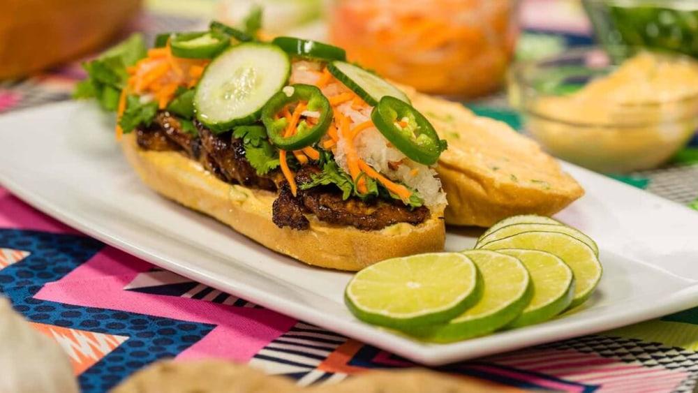Image of Vietnamese Banh Mi Sandwich