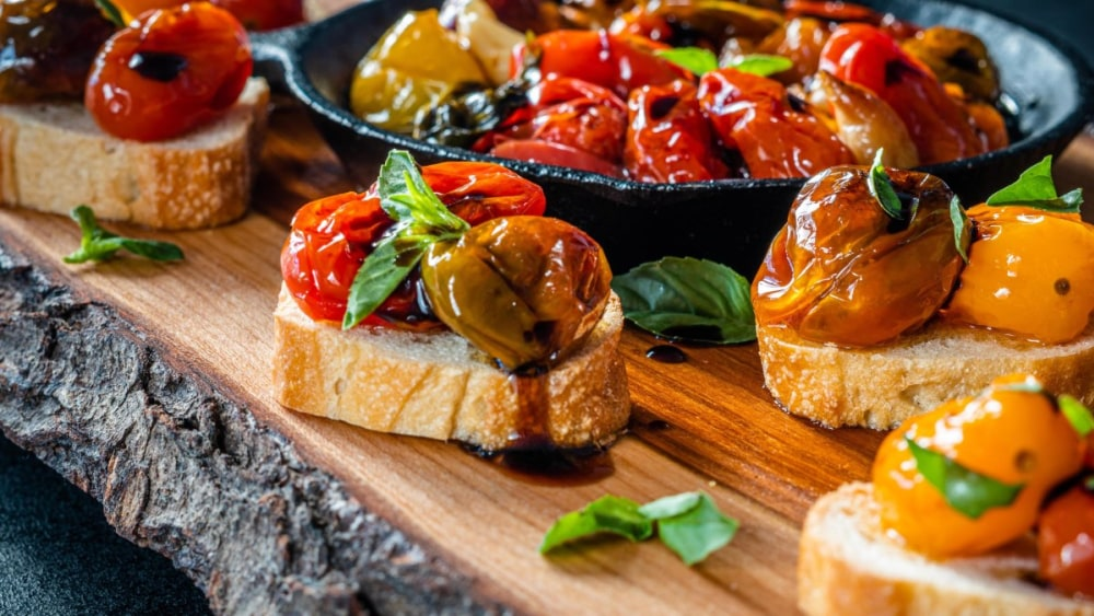 Image of Cherry Tomato Confit Bruschetta