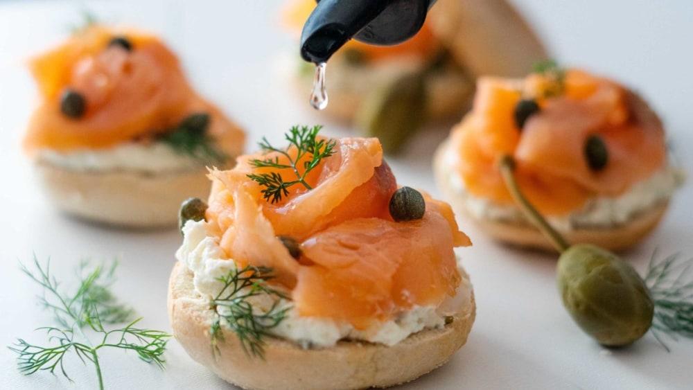 Image of Smoked Salmon Bagel Bites