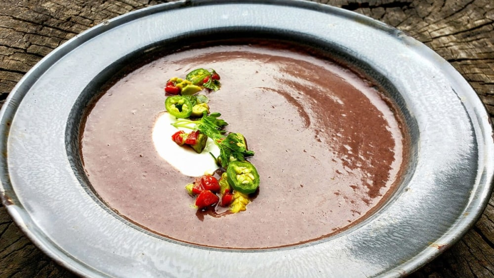 Image of Black Bean and Huitlacoche Soup